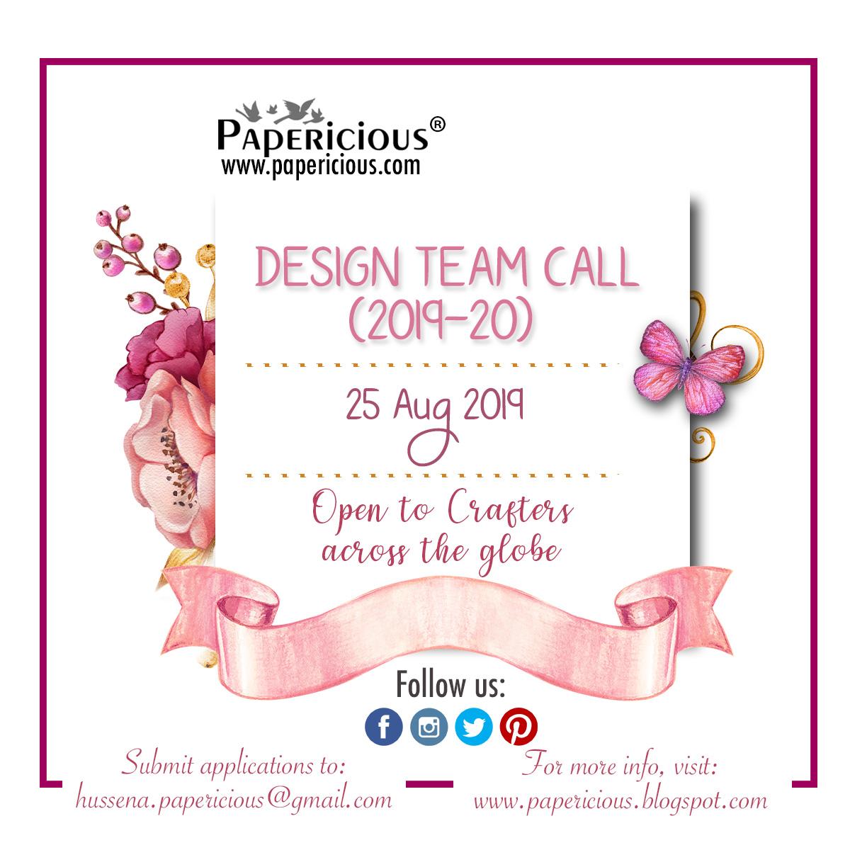 Design Team Call - 2019 -20
