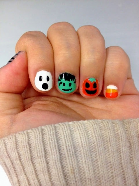 Mani Monday Halloween Nail Art La Vie En May Petite Fashionista