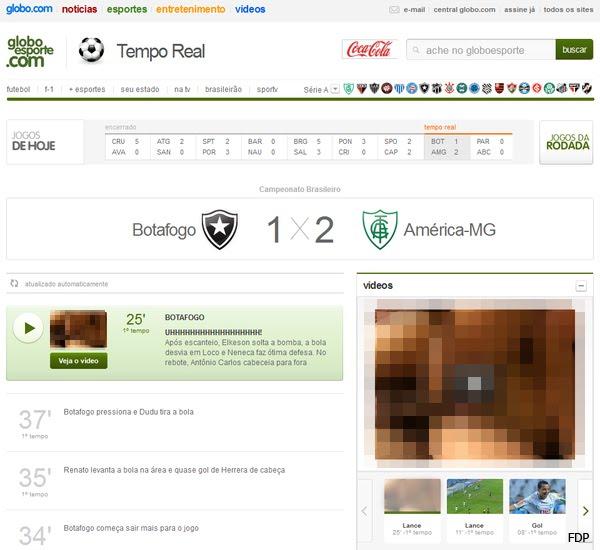 Globoesporte.com exibe vídeo pornográfico ao invés de GOL