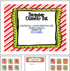 http://www.teacherspayteachers.com/Product/December-Calendar-Set-FREEBIE-438543