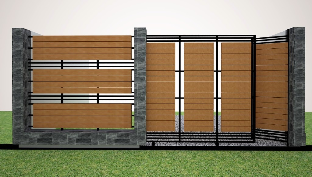 model pagar tembok,contoh pagar tembok