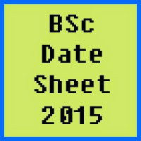 BSc Date Sheet 2016 Punjab University PU Lahore