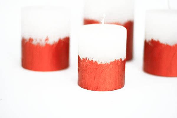DIY Copper candles - Kupferkerzen