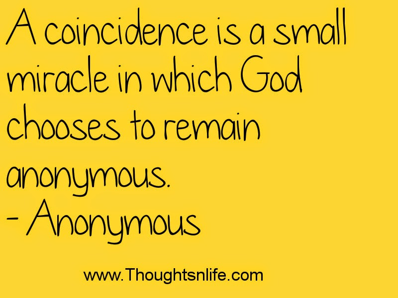 Thoughtsandlife: A coincidence