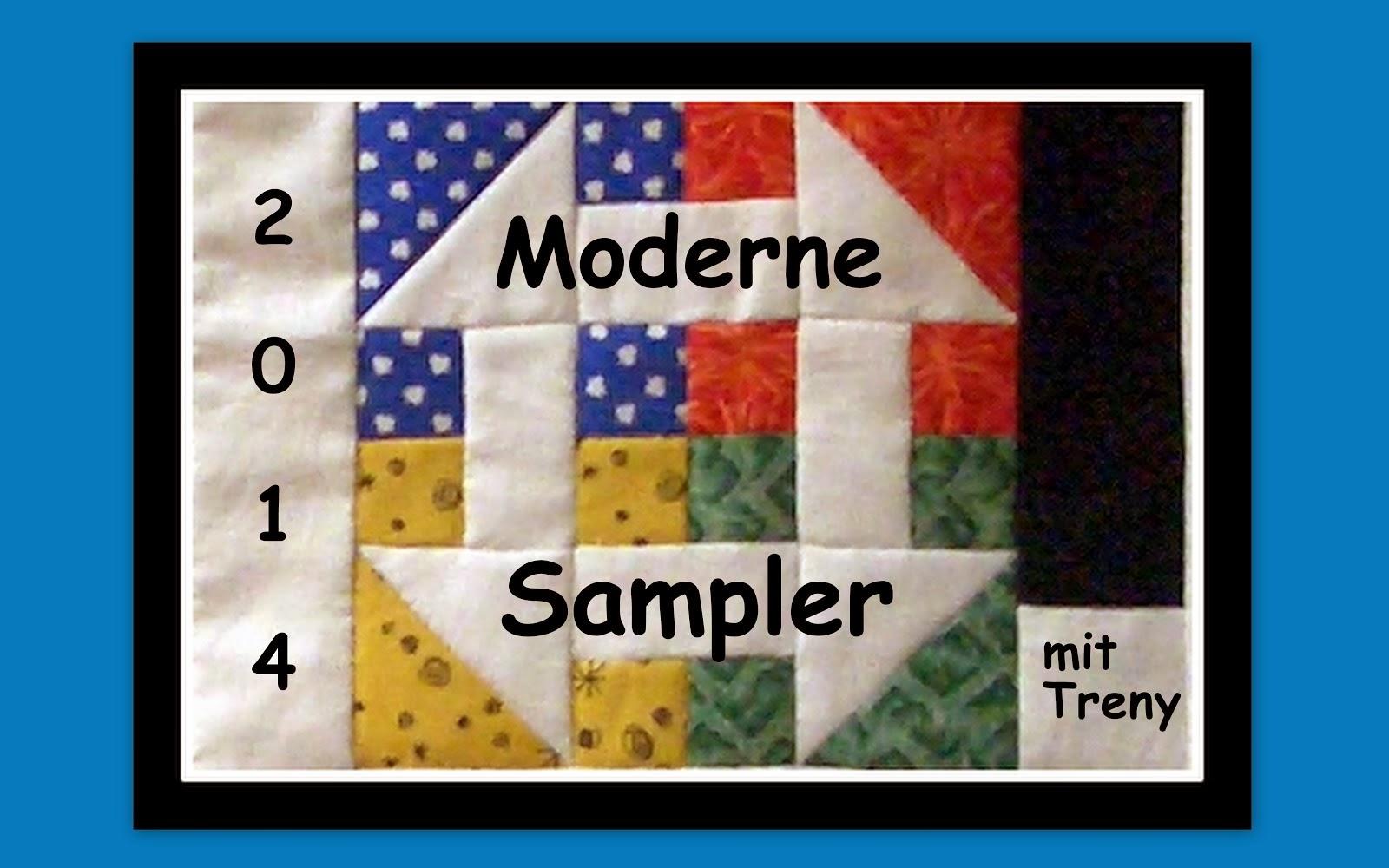 Online-Moderne Sampler-(Hand)nähen mit Treny