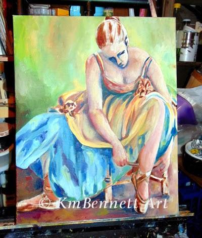Painting: Ballet 02 progress
