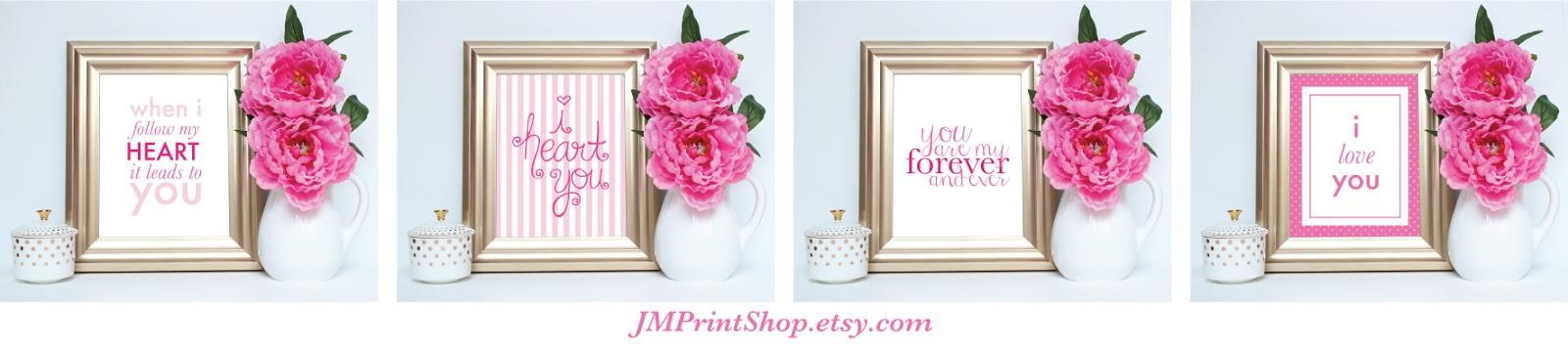 Valentine's Day Printables by JMPrintShop.etsy.com