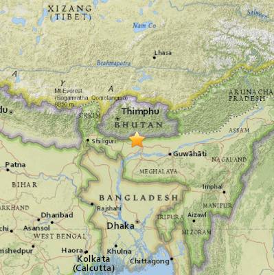 Tterremoto de 5,6 grados en la escala de Richter sacudió hoy el nororiental estado indio de Assam