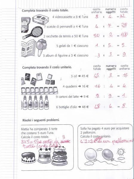 Didattica matematica scuola primaria costo totale e costo unitario classe terza - Calcolo valore catastale seconda casa ...