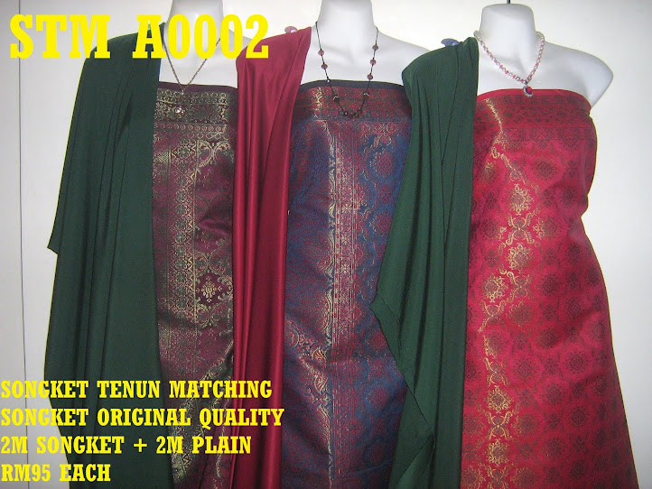 STM A0002: SONGKET TENUN MATCHING, HIGH QUALITY, 2M SONGKET + 2M PLAIN