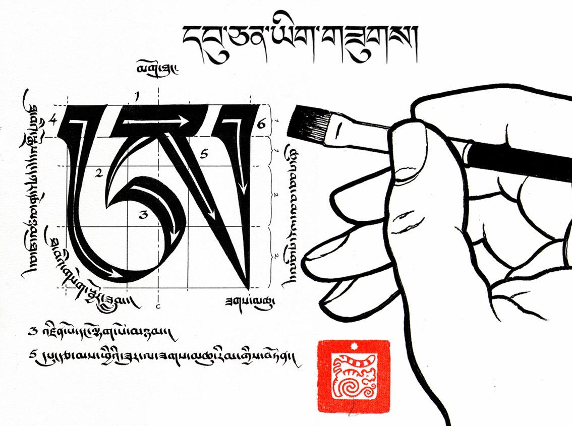 Calligraphie U Chen Tibetan Calligraphies