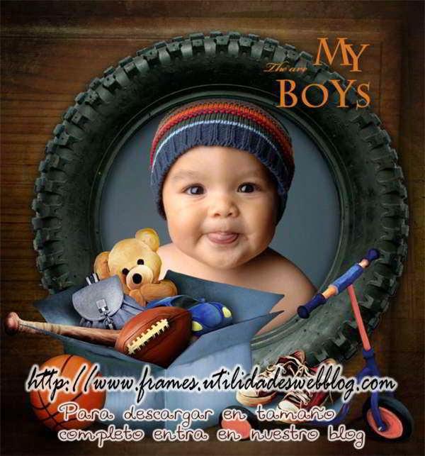 Plantilla para álbumes de fotos para bebes