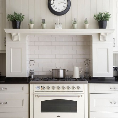 New White Appliances ~ Vignette design stainless steel vs white appliances