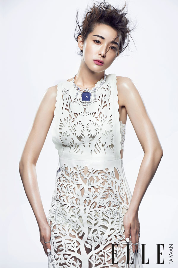 Valentino 2015 SS White Perforated Leather Dress Editorials