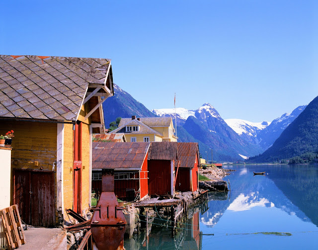 Another stop along our intrepid journey brings us to Fjærland on the shores of yet another tributary of the Sognefjord—Fjærlandfjord. Photo: Frithjof Fure - Visitnorway.com.