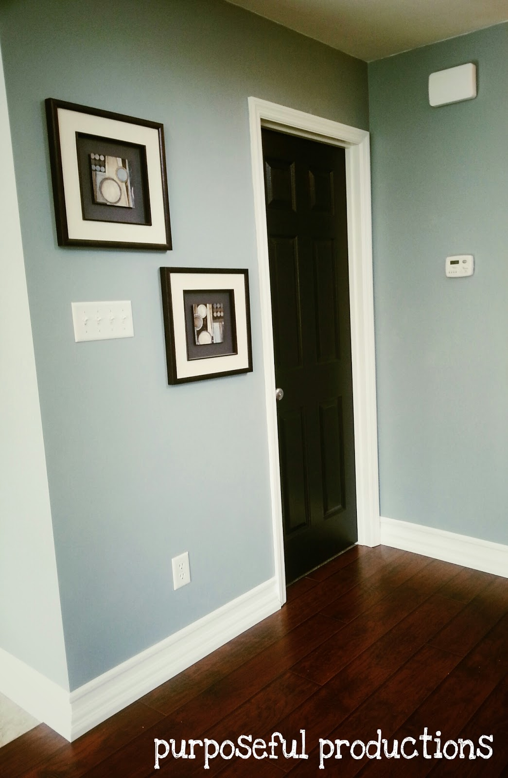 When All The Trim Was Up We Filled The Nail Holes, Sanded, And Painted The  Trim Including The Wall Space In Between The Existing Baseboard And The  Mullion.