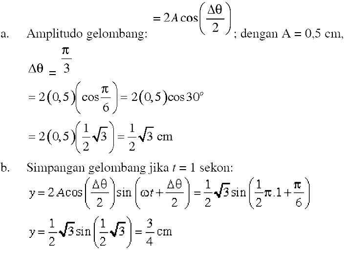 Pengertian prinsip superposisi gelombang contoh soal kunci jawaban amplitudo simpangan gelombang ccuart Images