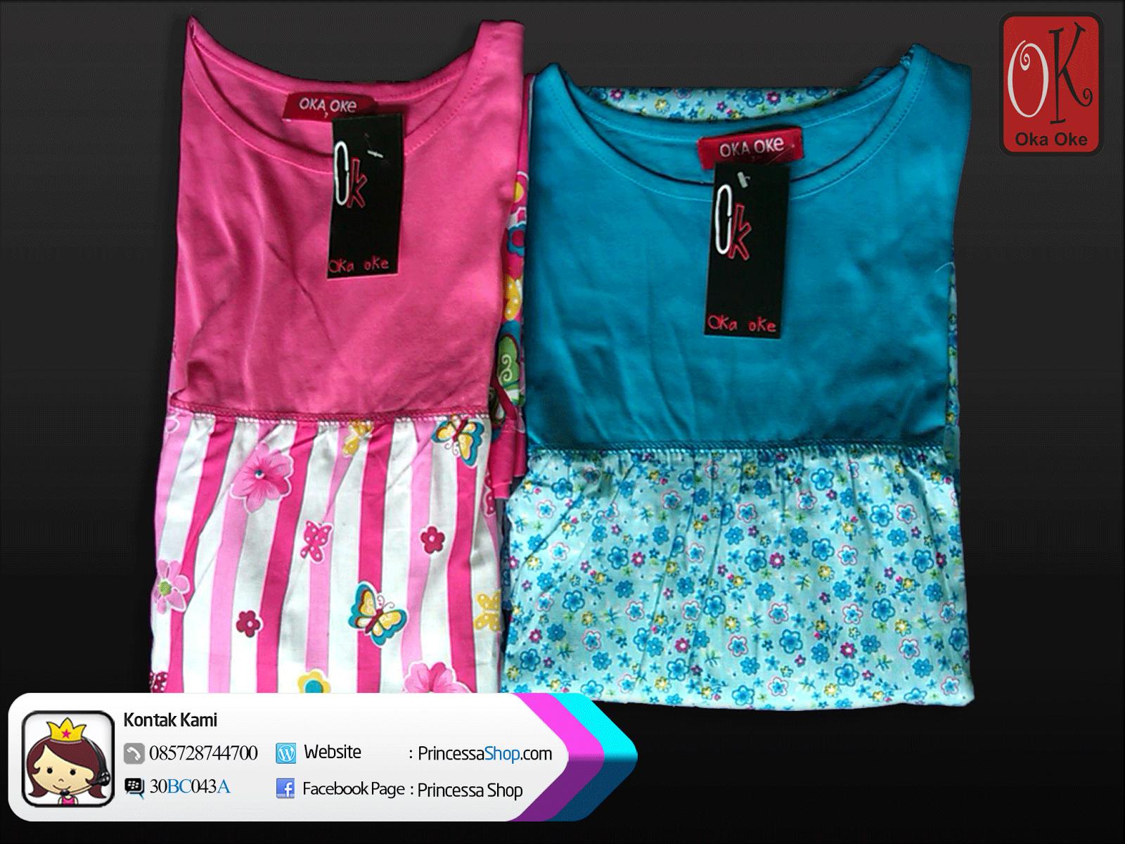 Gambar Baju Gamis Muslim Anak Perempuan Motif Terbaru Oka