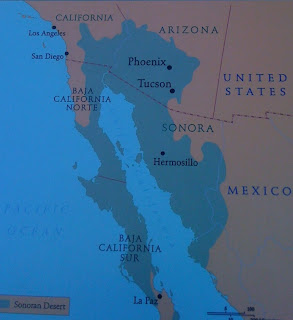Map of the Sonoran Desert