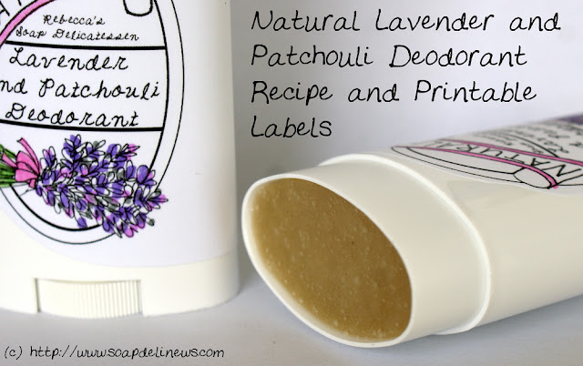 Natural DIY Beauty and Skin Care - Vegan Handmade Lavender Patchouli Deodorant Recipe with Printable Labels