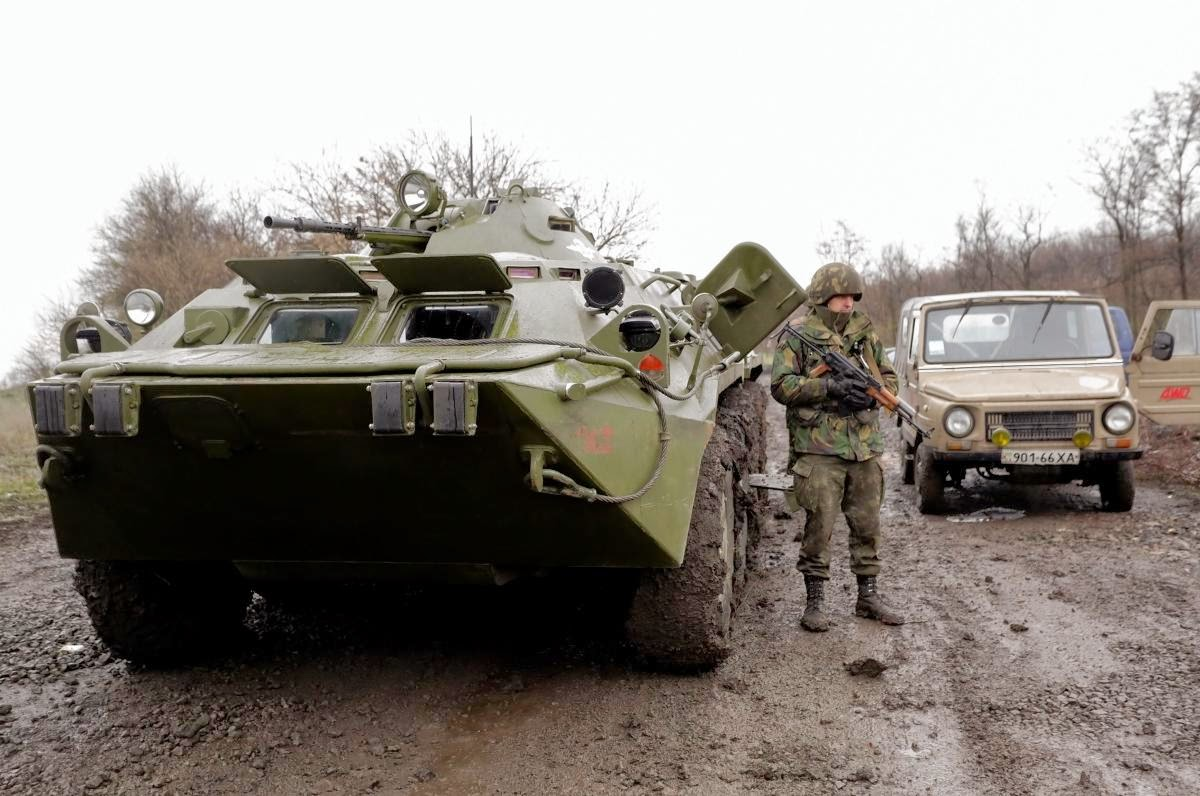 Russia Tank and a soldier