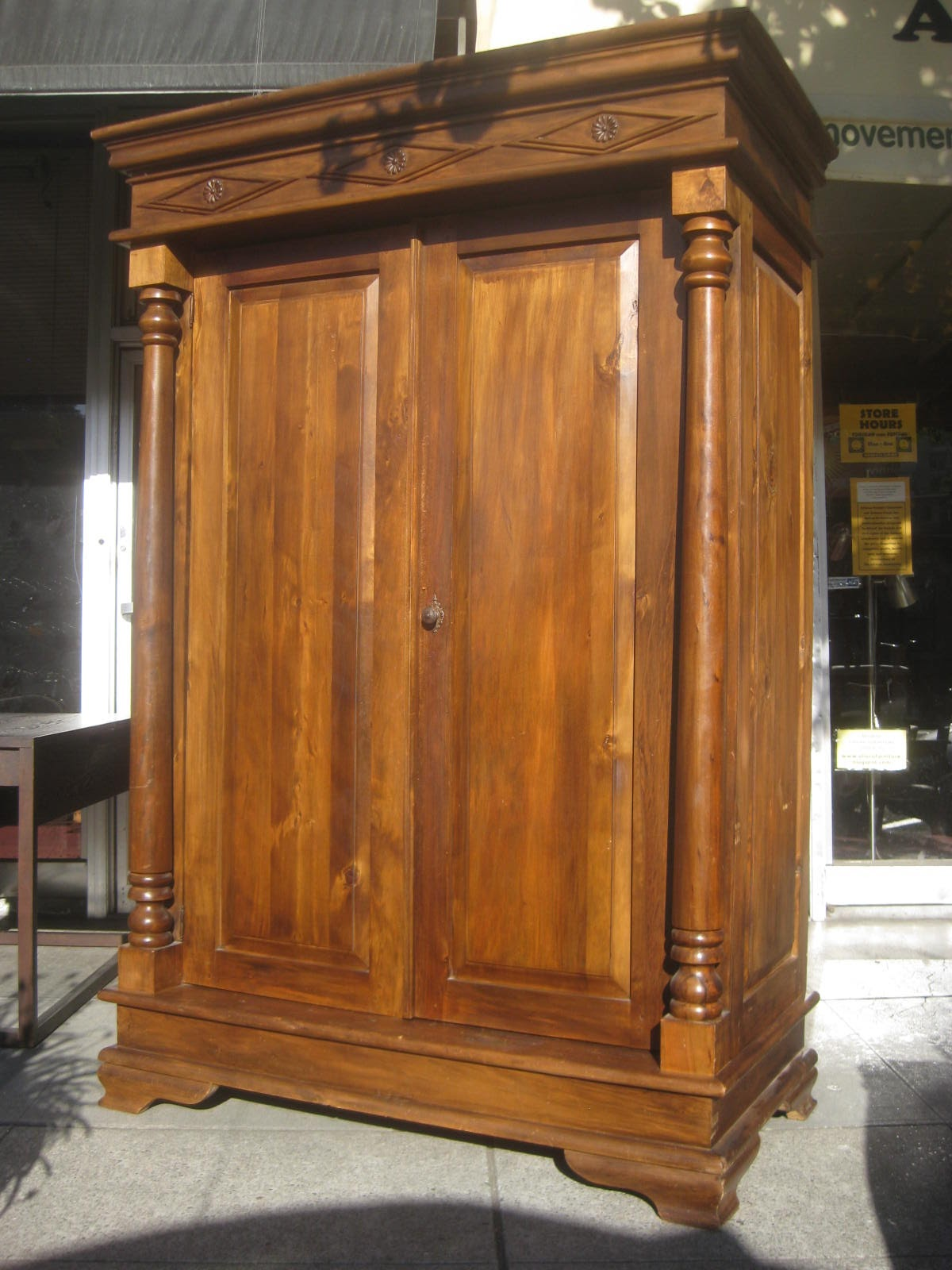 uhuru furniture collectibles sold large armoire 200. Black Bedroom Furniture Sets. Home Design Ideas