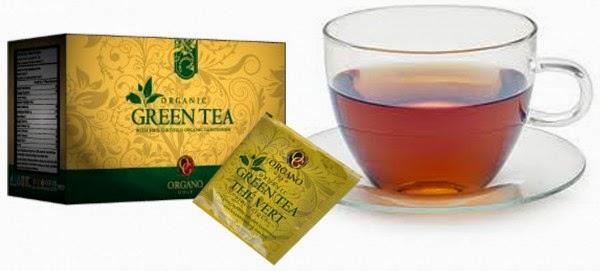 Thực phẩm chức năng Organic Green Tea Organo Gold trà xanh linh chi