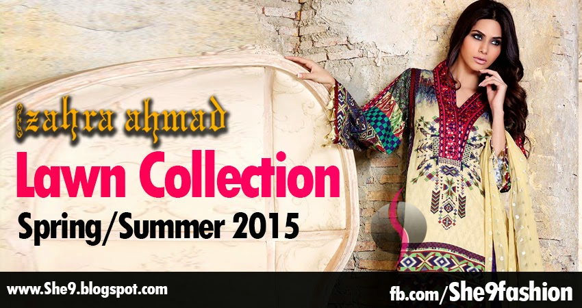 Zahra Ahmed Lawn Collection 2015
