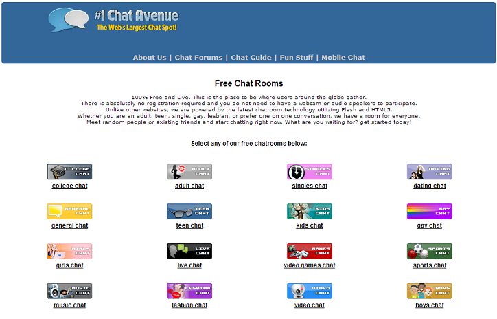Chat avenue video chat