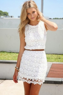Wonderful little white lace dress