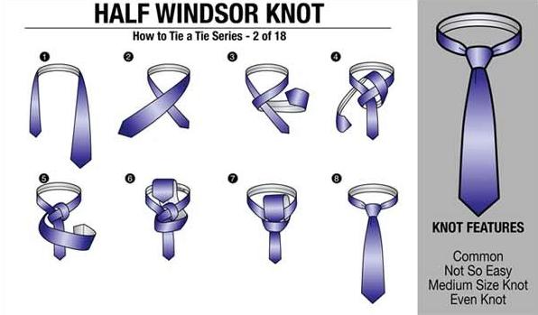 usahakan ujung dasi jangan melebihi ikat pinggang