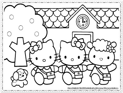 Hello Kitty Coloring Pages to Print for Girls