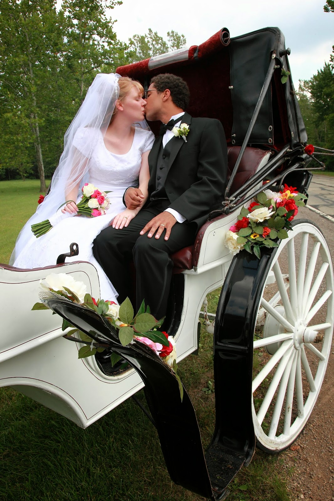pic of us in horse and carriage