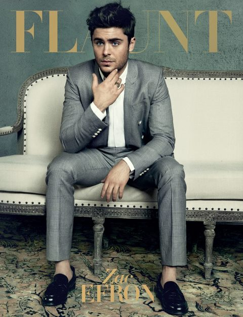 Zac Efron in Grey Suit