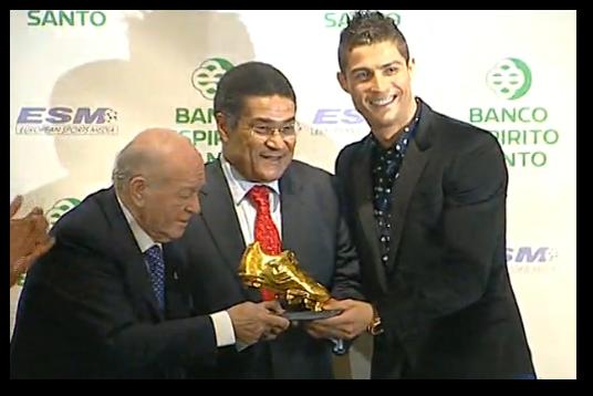 Cristiano Ronaldo recibe su segunda Bota de Oro
