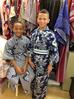 Boys in kimono yukata Kimono House NY
