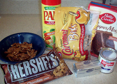 ingredients Caramel Turtle Brownies