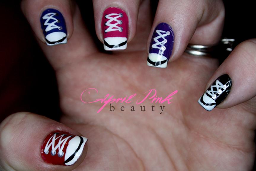 Black and Silver Toe Nail Art