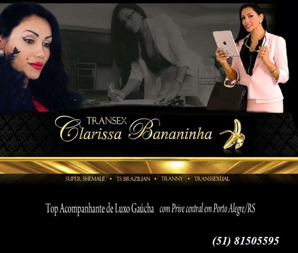 CLARISSA LINDA TRANSEX GAÚCHA - ACOMPANHANTE DE LUXO Top Travesti Alto Nível  EM PORTO ALEGRE RS