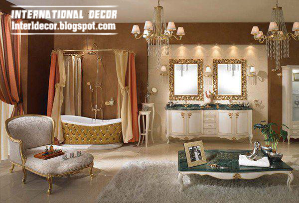 luxurious bathroom accessories furniture and royal design
