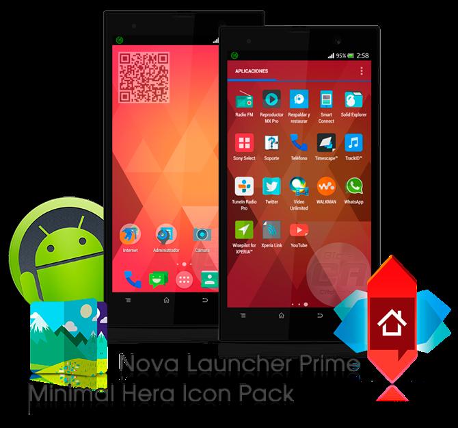 Nova Launcher Prime + Minimal (Hera) Icon Pack