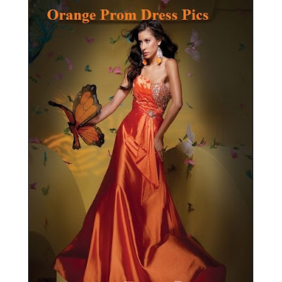 orange-prom-dress-unique prom dresses