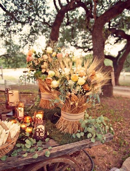 decoración boda otoño
