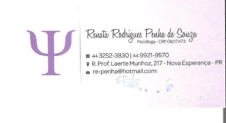 Psicóloga Renata Rodrigues