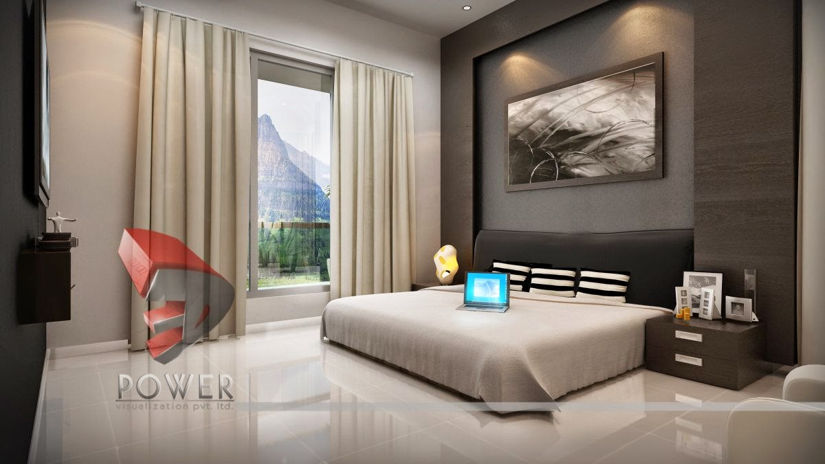 3d Interior Visualization And Rendering Bedroom