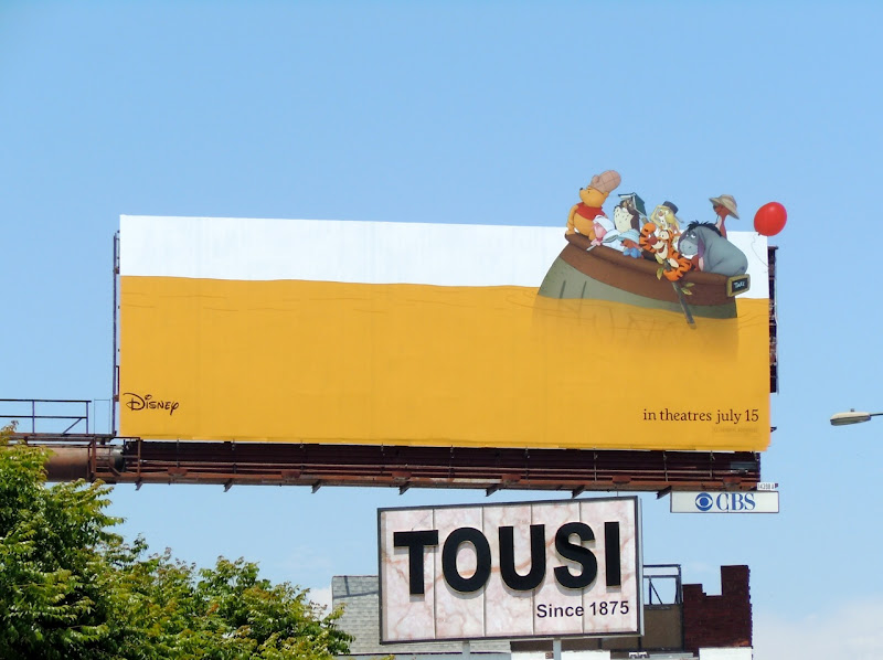 Disney Winnie the Pooh movie billboard