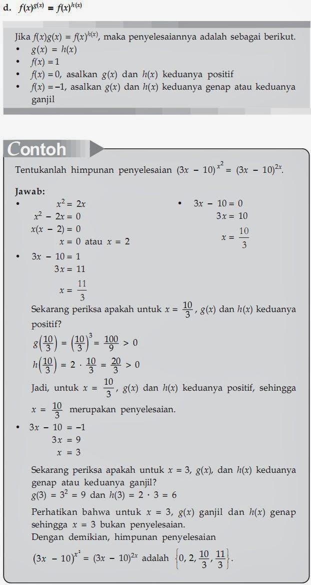 Matematika Di Sma Persamaan Dan Pertidaksamaan Eksponen