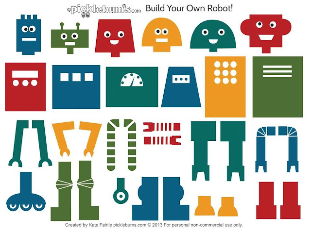 Growing A Stem Classroom Build Your Own Robot Template