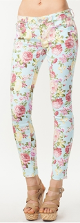 Baked Bouquet Floral Skinny Jean