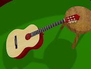 Sala de estar e violão
